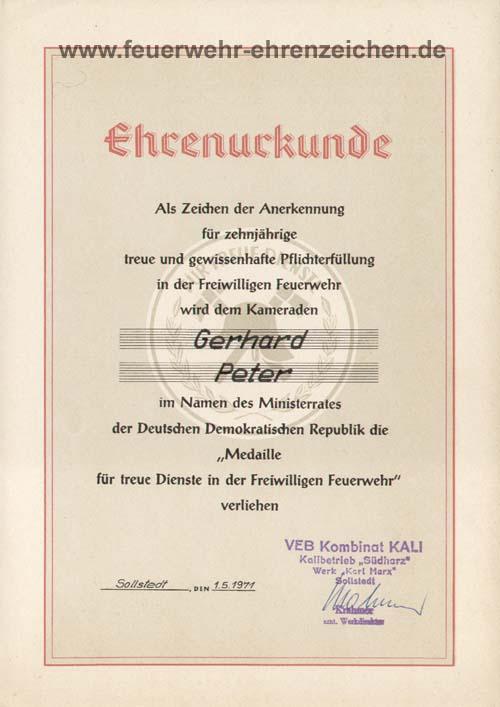 Wwwfeuerwehr Ehrenzeichende Ddr 41001